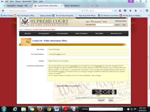 SUPREME COURT CONTACT